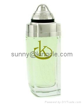 new style glass perfume bottle with cap  5