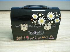 Promotion rectangular tin box with handle