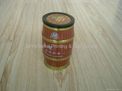 Easy open lid round coffee tin can