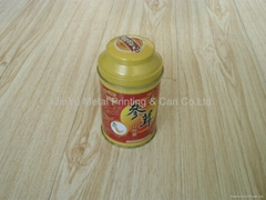 small attractive round cookies tin box with bowl shaped lid
