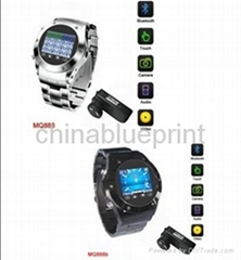 Watch phone MQ888, Mp4/Mp3 with Camera Function Mobile cell phone