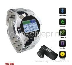 Watch phone MQ888, Mp4/Mp3 with Camera Function Mobile cell phone 3