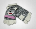 Knitted Cartoon animals gloves 3