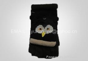 Knitted Cartoon animals gloves 4