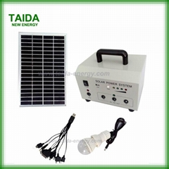 Rechargeable solar power system for home lighting