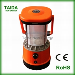 Super bright LED solar power camping lantern