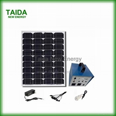 Off-grid solar power system for home TV