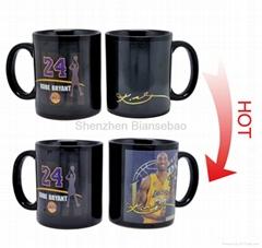 11 oz FDA approved partial color changing ceramic mug