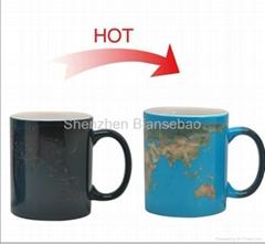 FDA approved 15oz Full color changing ceramic  mug