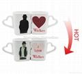 10 oz FDA approved Kiss mug set with color changing  1