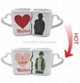 10 oz FDA approved Kiss mug set with color changing  2