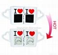 10 oz FDA approved Kiss mug set with color changing  3