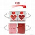 10 oz FDA approved Kiss mug set with color changing  4