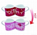 10 oz FDA approved Heart mug with color