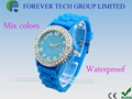 women styel diamond couple, lover watch crystal stone bracelets wrist watch