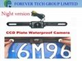 CCD plate waterproof camera