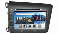 Car gps dvd for 2012 civics android wifi 3g