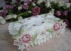 Embroidery tissue box