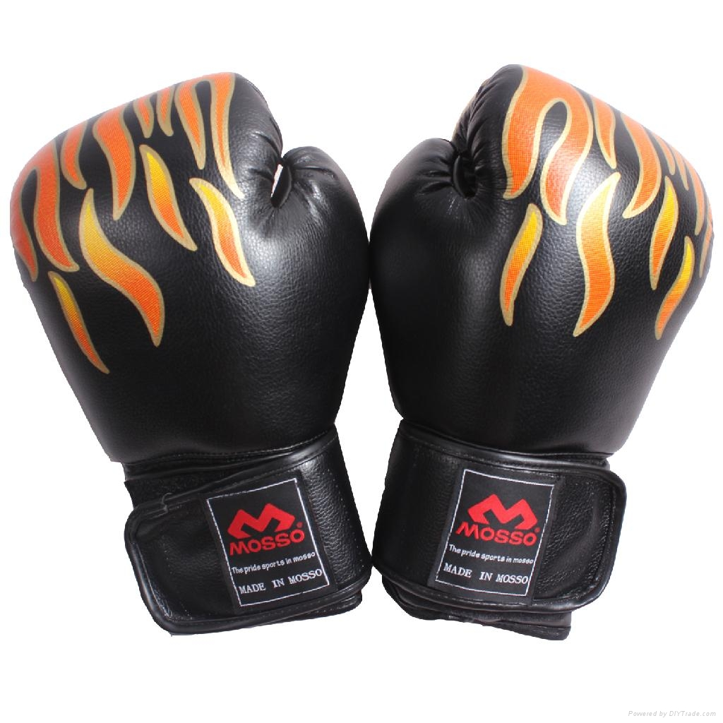 Boxing Glove muay thai Training leather gloves Boxing focus mitts 1