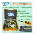 20m Drain sewer pipe inspection camera