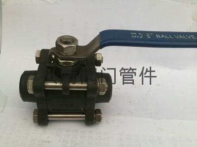 不锈钢三片式快装卡箍连接球阀 3