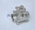 不锈钢三片式承插焊接球阀 4