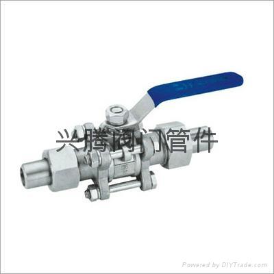 不锈钢两边带活套活接焊接球阀 3