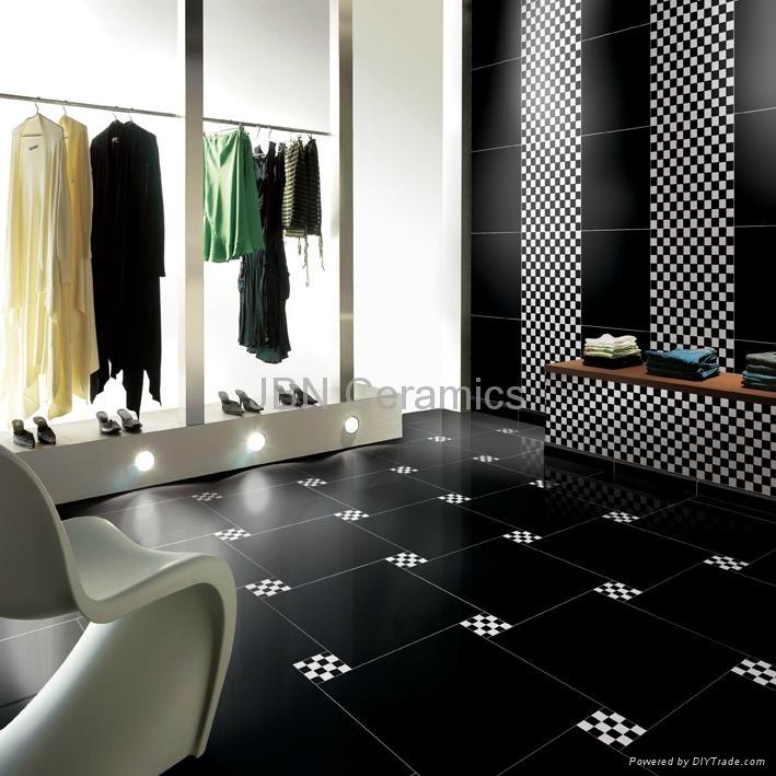 J6t05s Super Black Vitrified Floor Tiles 600x600mm Jbn China