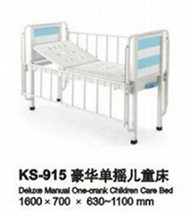 Deluxe Manual One-Crank Children Care Bed
