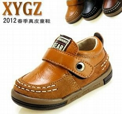 2012 new spring baby shoes leather leather shoes men's singles shoes