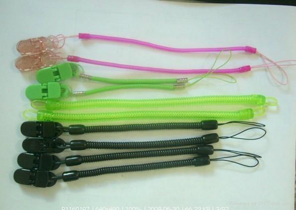 塑料手機彈簧吊挂繩 2