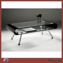 Black Elegant Acrylic/Perspex Coffee Table with Steel legs