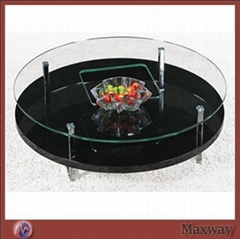2 tiers Round Acrylic/Perspex Coffee Table designed with imagination