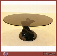 Brown Round Acrylic/Perspex Coffee Table