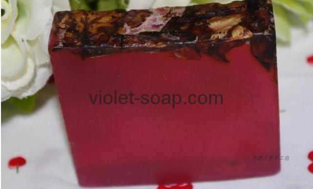 有機保加利亞玫瑰精油手工皂 1