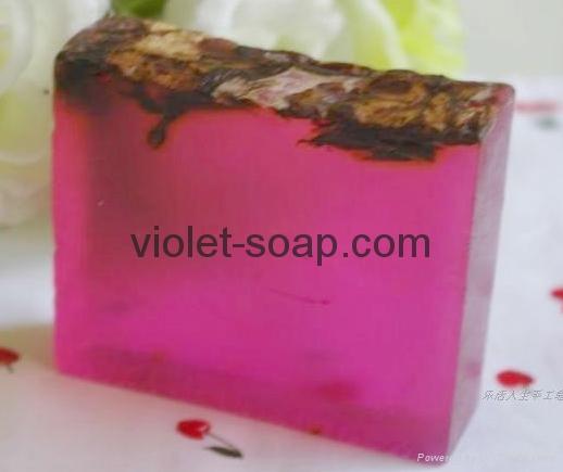 有機保加利亞玫瑰精油手工皂 3
