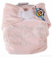 Minkee velcro cloth diapers