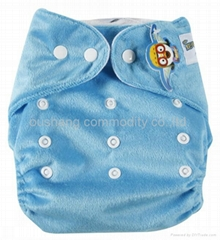Minkee snaps cloth diapers