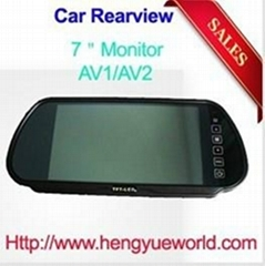 7'' TFT LCD Color Screen Car Monitor rearview Mirror camera
