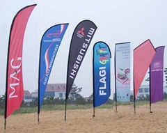 马来西亚美式橡皮筋沙滩刀旗旗杆