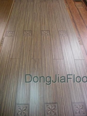 1213*142*12.3mm Laminate Flooring of Paint V-groove and Flower China