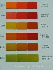 鋁陽極氧化金色染料