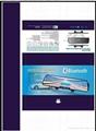 Top quality Bluetooth mirror car kit + FM+SD+wireless earphone+phonebook+display 3