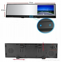 Car kits of 4.3'TFT mirror with wireless back up camera +DVR