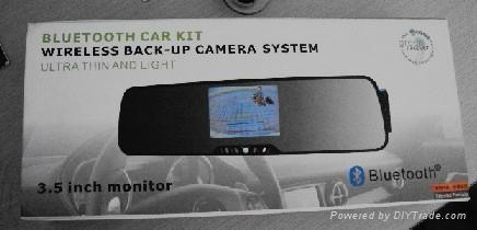 "3.5"" TFT  Bluetooth car kit wireless back-up camera system 2"