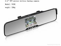 "3.5"" TFT Bluetooth car kit wireless back-up camera system"