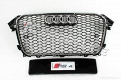 2013 A4 RS4 Grille for Audi A4 Black Mesh Chromed Edge