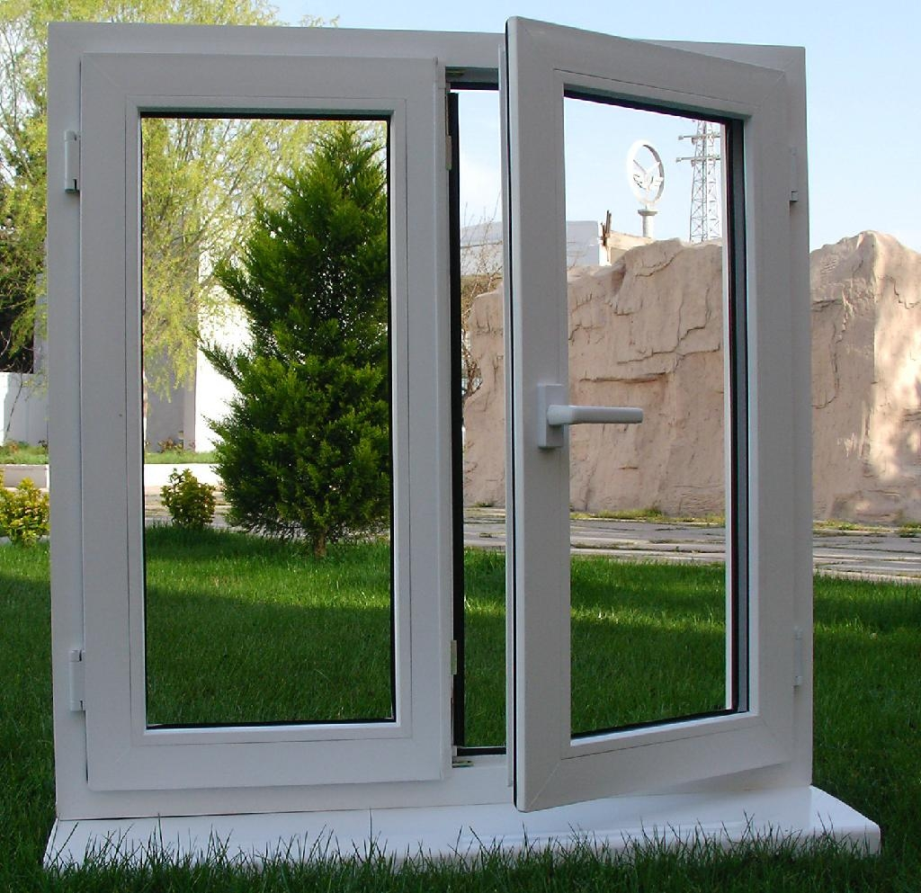 Soundproof pvc casement window china manufacturer for Buy new construction windows online