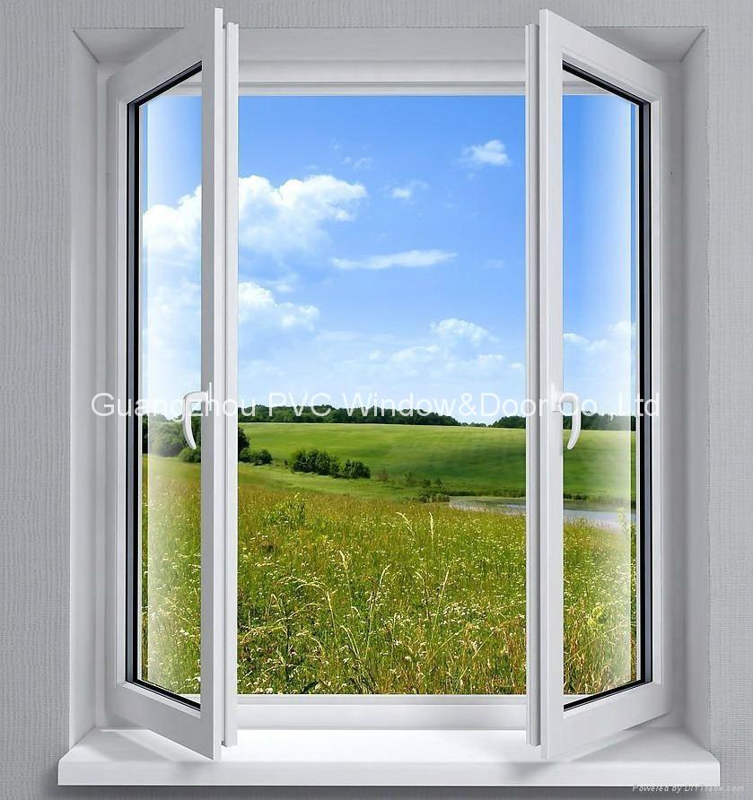 Pvc Window Product : Ecological pvc casement window wb guangzhou