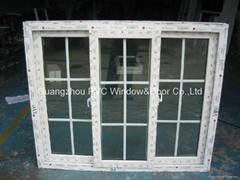 European style  PVC sliding window